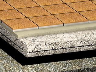 Pavimento monolitico industriale in cemento dursil piastrella